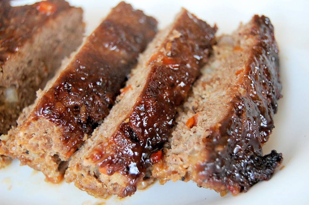 Balsamic Mustard Glazed Meatloaf With Crispy Onions And Jalapenos