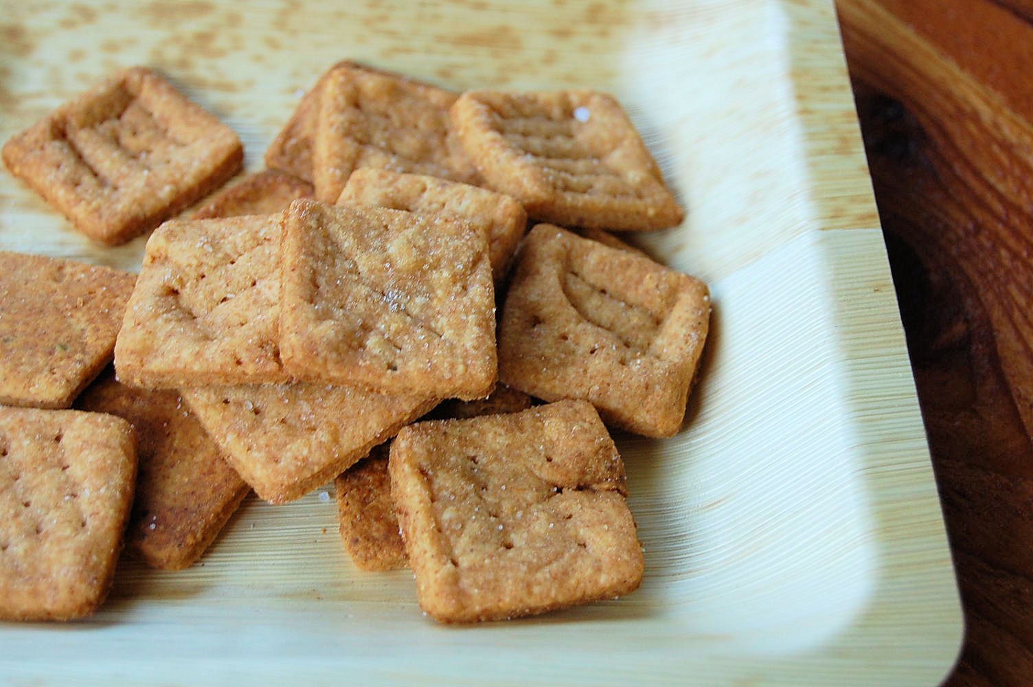 Whole Grain Cheese Crackers with Sea Salt